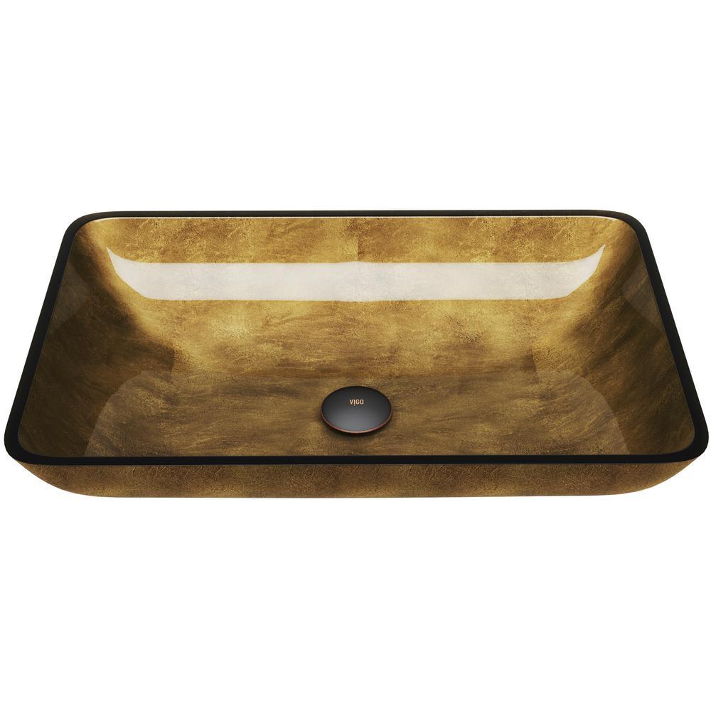 Gl Rectangle Vessel Bathroom Sink