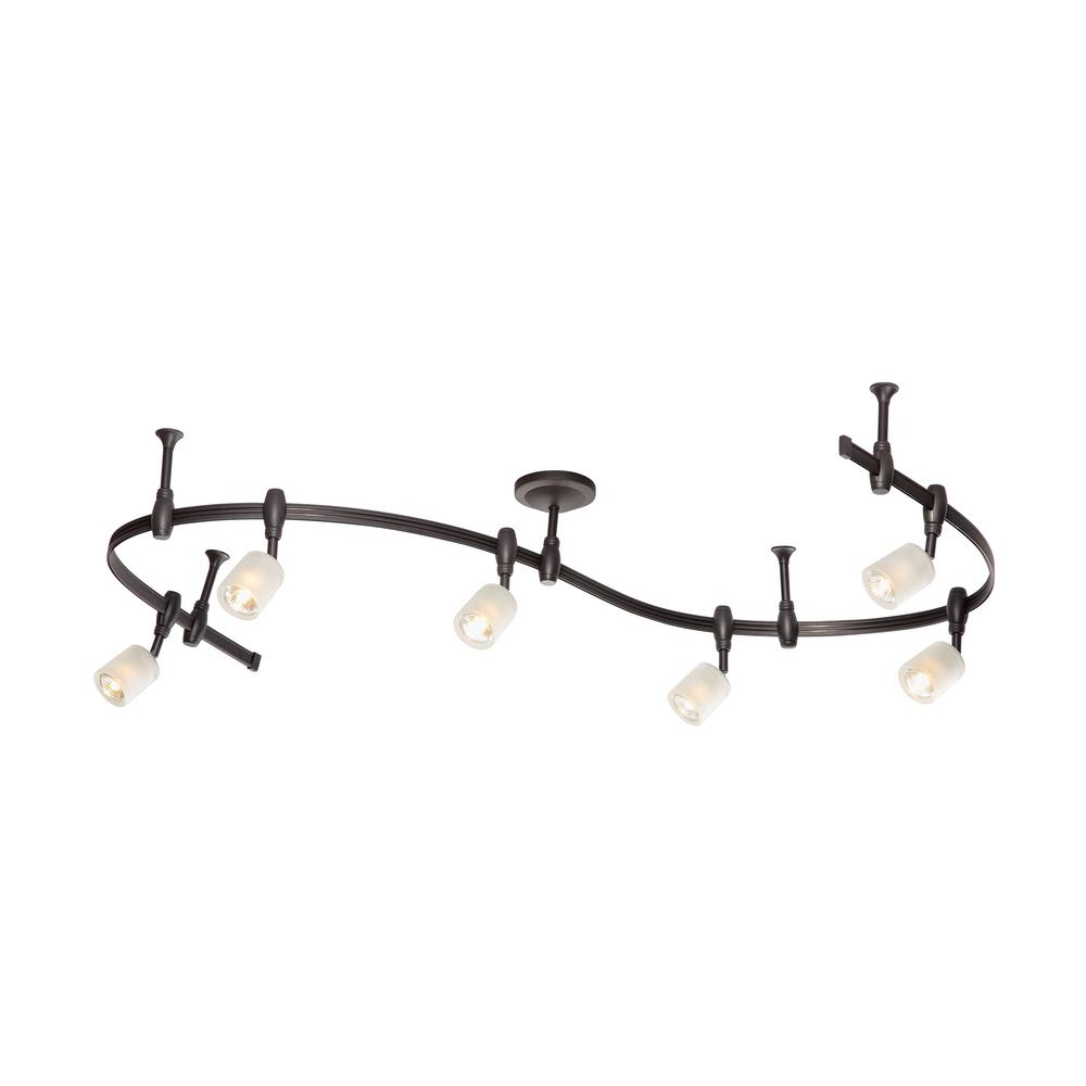 Awesome 6 Light Oil Rubbed Bronze Halogen Track Lighting Kit