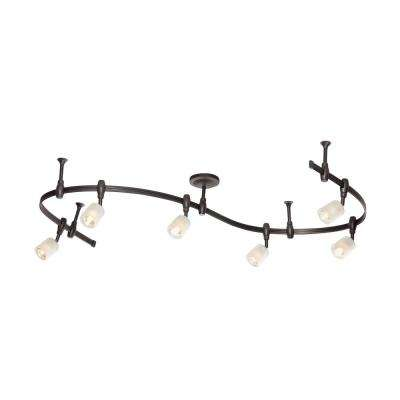 8 ft. 6-Light Oil Rubbed Bronze Halogen Track Lighting Kit