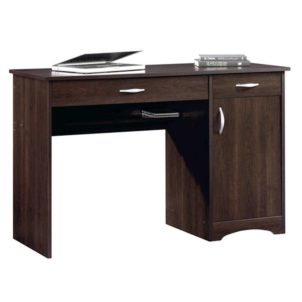 SAUDER Beginnings Cinnamon Cherry Desk With Storage 413072   The Home Depot