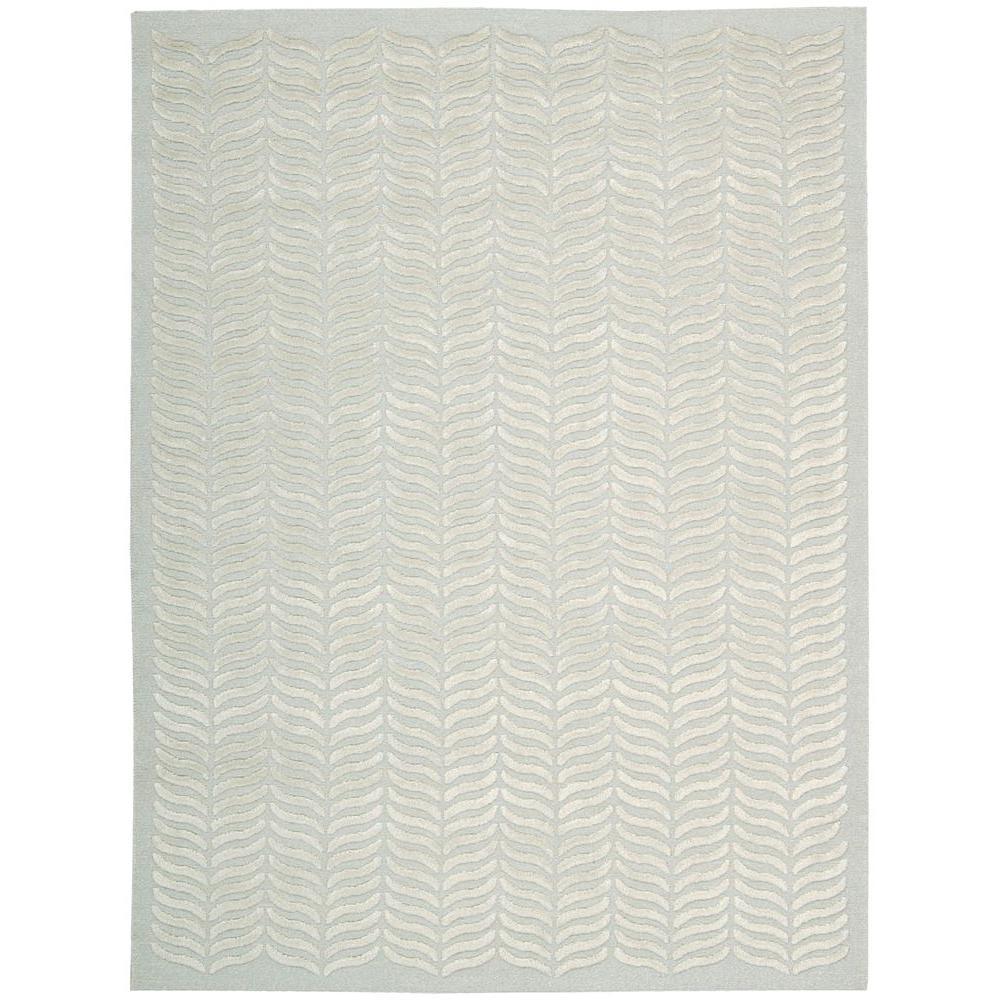 Nourison Overstock Silken Textures Aqua 8 Ft. X 10 Ft