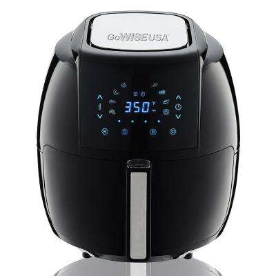 5.8 Qt. 8-in-1 Black Electric Air Fryer