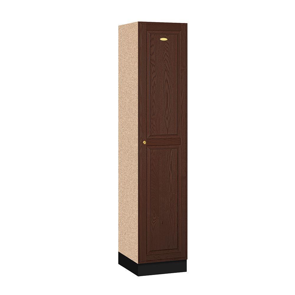 11000 Series 16 in. W x 76 in. H x 18 in. D Single Tier Solid Oak Executive Locker in Dark Oak