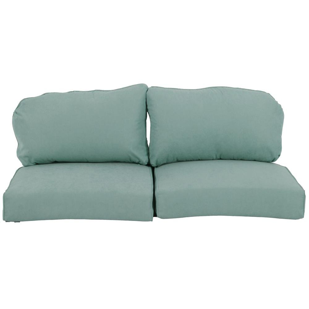 Martha Stewart Living Lily Bay Lake Adela Surf Replacement Outdoor Loveseat Cushion Fra62036l