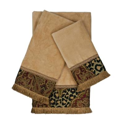 Tangiers Nugget Decorative Embellished Towel Set (3-Piece)
