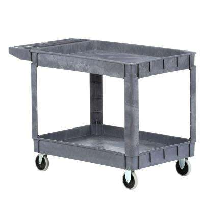 Heavy Duty 46 in. x 25 in. 2-Shelf Utility Cart with 5 in. Casters