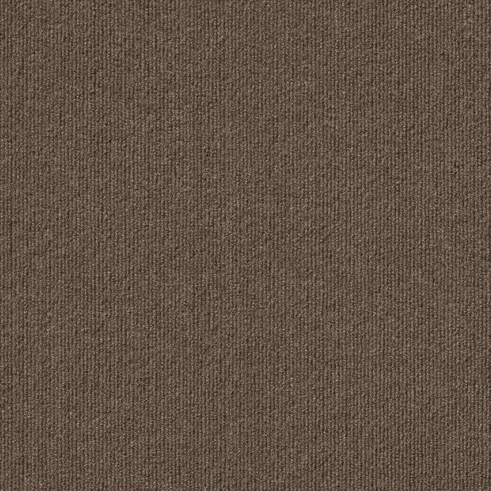 Foss Peel and Stick Design Smart Espresso Rib 18 in. x 18 in. Residential Carpet Tile (10 Tiles/Case)