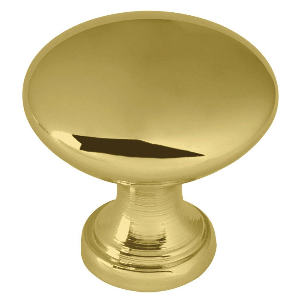 Classic Round 1-1/4 in. (32mm) Polished Brass Hollow Cabinet Knob