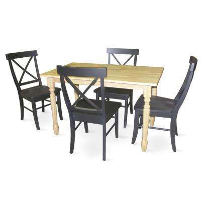 Lovely 5 Piece Natural Dining Set