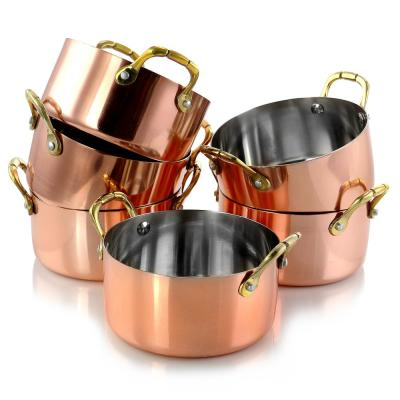 Rembrandt 4.7 in. 6-Piece Copper Plated Mini Dutch Oven