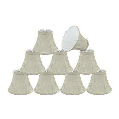 6 in. x 5 in. Butter Creme Bell Lamp Shade (9-Pack)