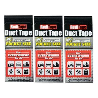 RediTape Pocket Size Duct Tape in Black (3-Pack)