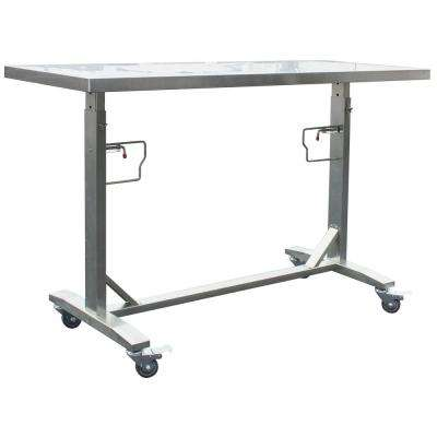 Stainless Steel Adjustable Height Work Kitchen Utility Table with Locking Casters