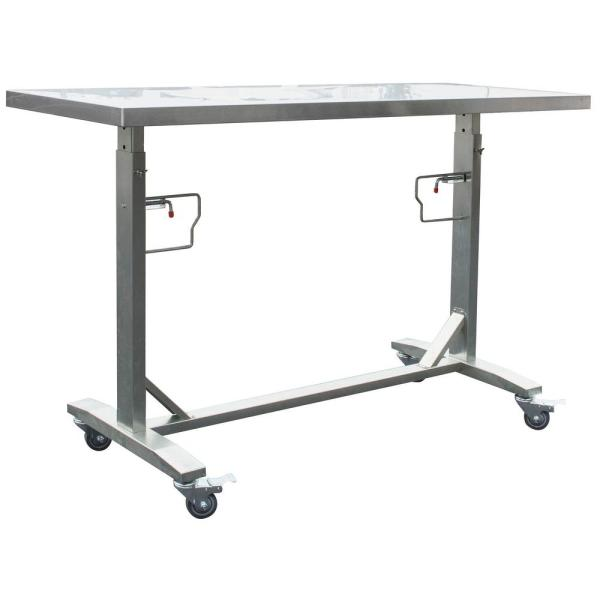 Sportsman Stainless Steel Adjustable Height Work Kitchen Utility Table with Locking Casters
