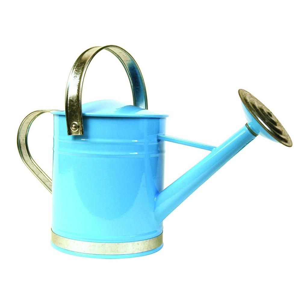 Basic 1 Gal. Blue Metal Watering Can