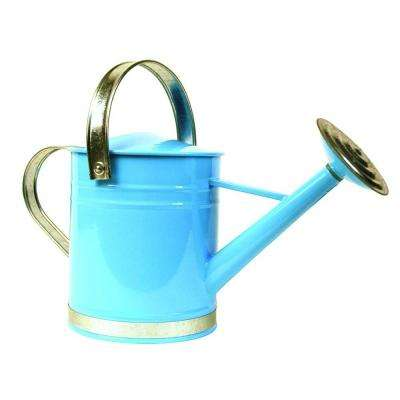 Basic 1 Gal. Blue Metal Watering Can