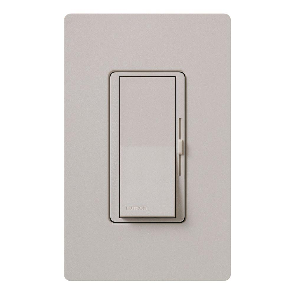 Diva Dimmer for Incandescent and Halogen, 600-Watt, Single-Pole or 3-Way, Taupe