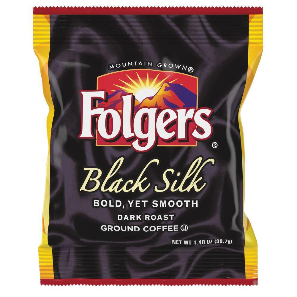 Folgers 1.4 oz. Black Silk Ground Coffee Fraction Pack Gr...