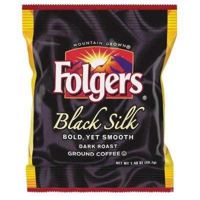 1.4 oz. Black Silk Ground Coffee Fraction Pack Ground Caffeinated, Dark/Bold/Smooth