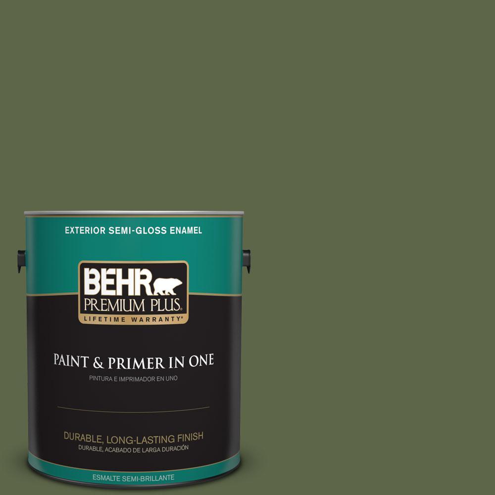 1-gal. #410F-7 Fiddle Leaf Semi-Gloss Enamel Exterior Paint