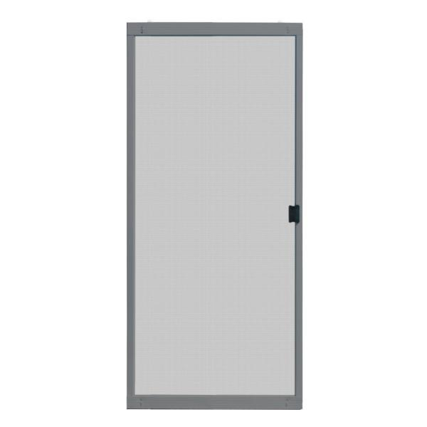 Unique Home Designs 36 In X 80 In Adjustable Fit Gray Metal Sliding Patio Screen Door Ispm500036gry The Home Depot