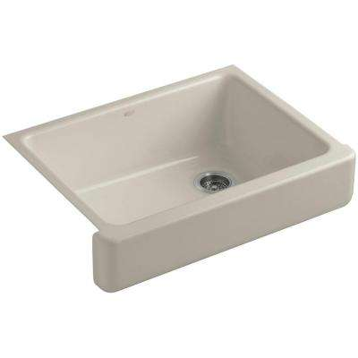 Whitehaven Farmhouse Apron-Front Cast Iron 30 in. Single Basin Kitchen Sink in Sandbar