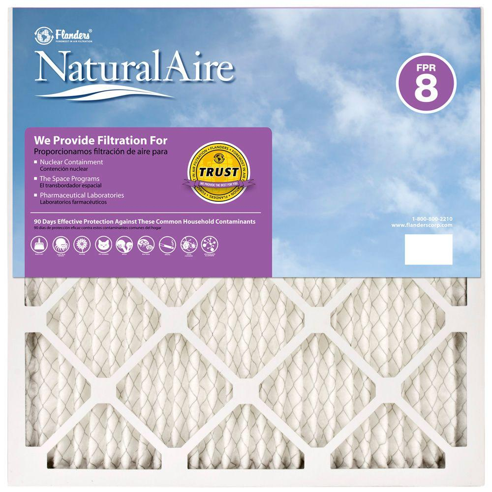 NaturalAire 24 in. x 24 in. x 1 in. Pleated FPR 8 Air Filter (Case of 12)