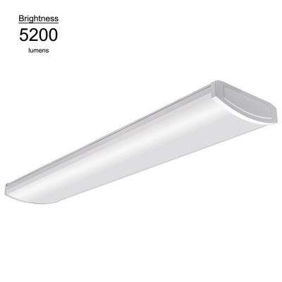 Integrated led commercial lighting lighting the home depot white led high output wrap 58 watt 5200 lumens 4000k bright aloadofball Image collections