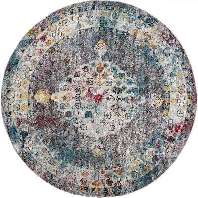 Nicole Miller Patio Starlight Multi  7 ft. 10 in. Round Indoor/Outdoor Rug