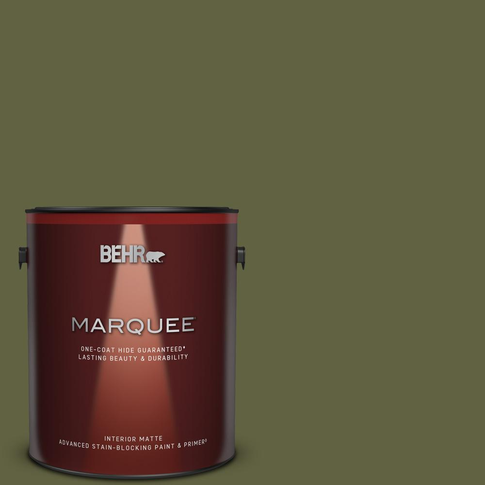 Behr Marquee 1 Gal T11 16 Fjord Matte Interior Paint Primer 145301 The Home Depot