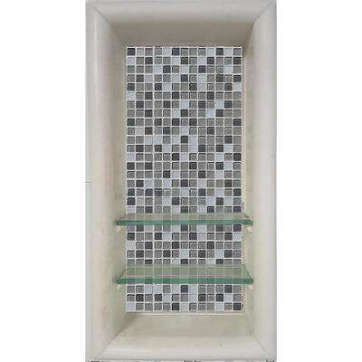 Del Mar 12 in. x 4 in. x 24 in. Shower Niche in Natural Buff