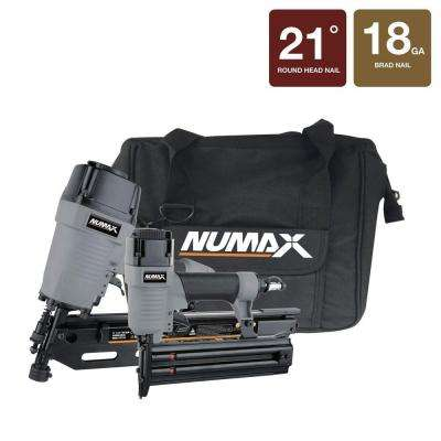 21 Degree Framing and Brad Nailer kit with Canvas Bag