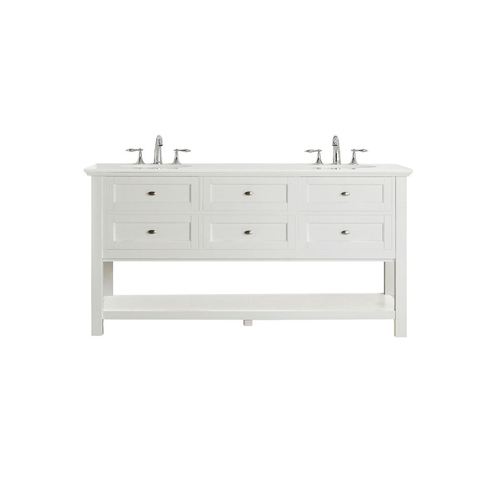 Home Decorators Collection Austell 67 In W X 22 D Vanity White