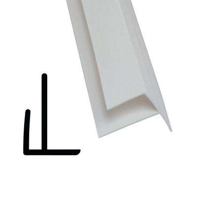 852 1/2 in  x 3/4 in  x 96 in  PVC Composite White Outside Corner Moulding