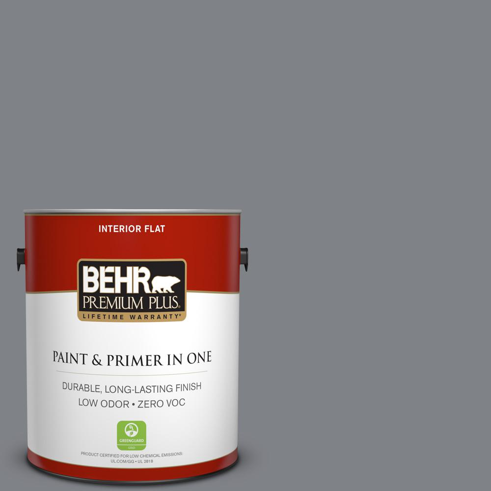 BEHR Premium Plus 1-gal. #N530-5 Mission Control Flat Interior Paint