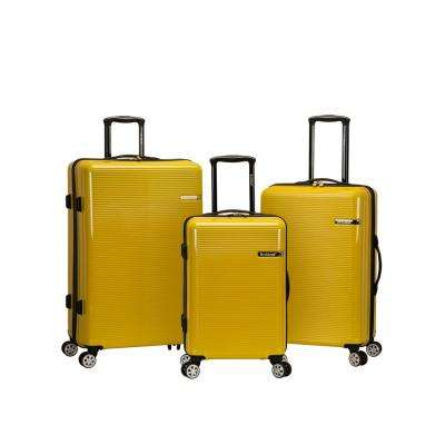 Skyline Collection 3-Piece Harside Dual Spinner Luggage Set, Yellow