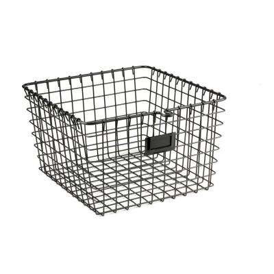 11.875 in. W x 13.75 in. D x 8 in. H Medium Storage Basket in Cool Gray