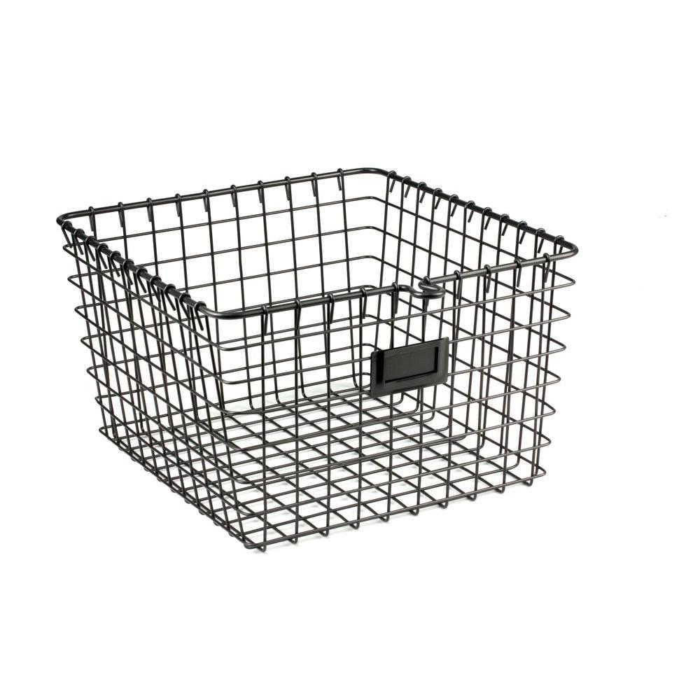 11.875 in. W x 13.75 in. D x 8 in. H Medium Storage Basket in Cool Gray