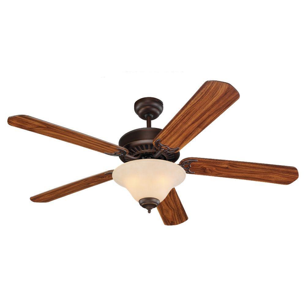 New 52 3 Light Bronze Indoor Ceiling Fan Best Price: Sea Gull Lighting Quality Pro Deluxe 52 In. Roman Bronze