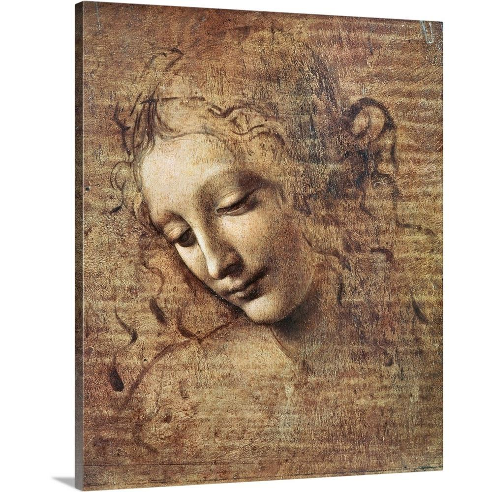 Greatbigcanvas Quot Head Of A Young Woman With Tousled Hair Or