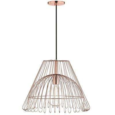 Katie 1-Light Polished Copper Large Pendant