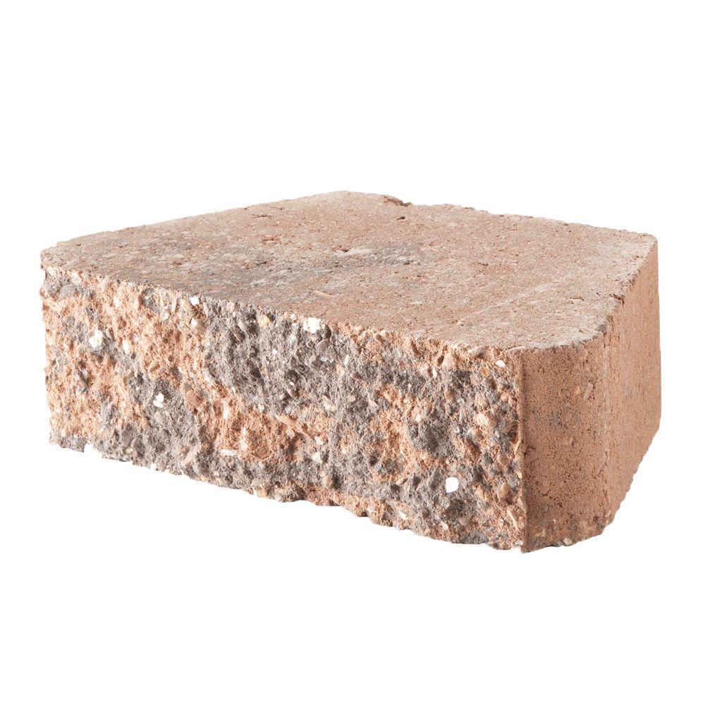 Pavestone 10 in.x 6 in.x 3 in. Terracotta Concrete Retaining Wall Block