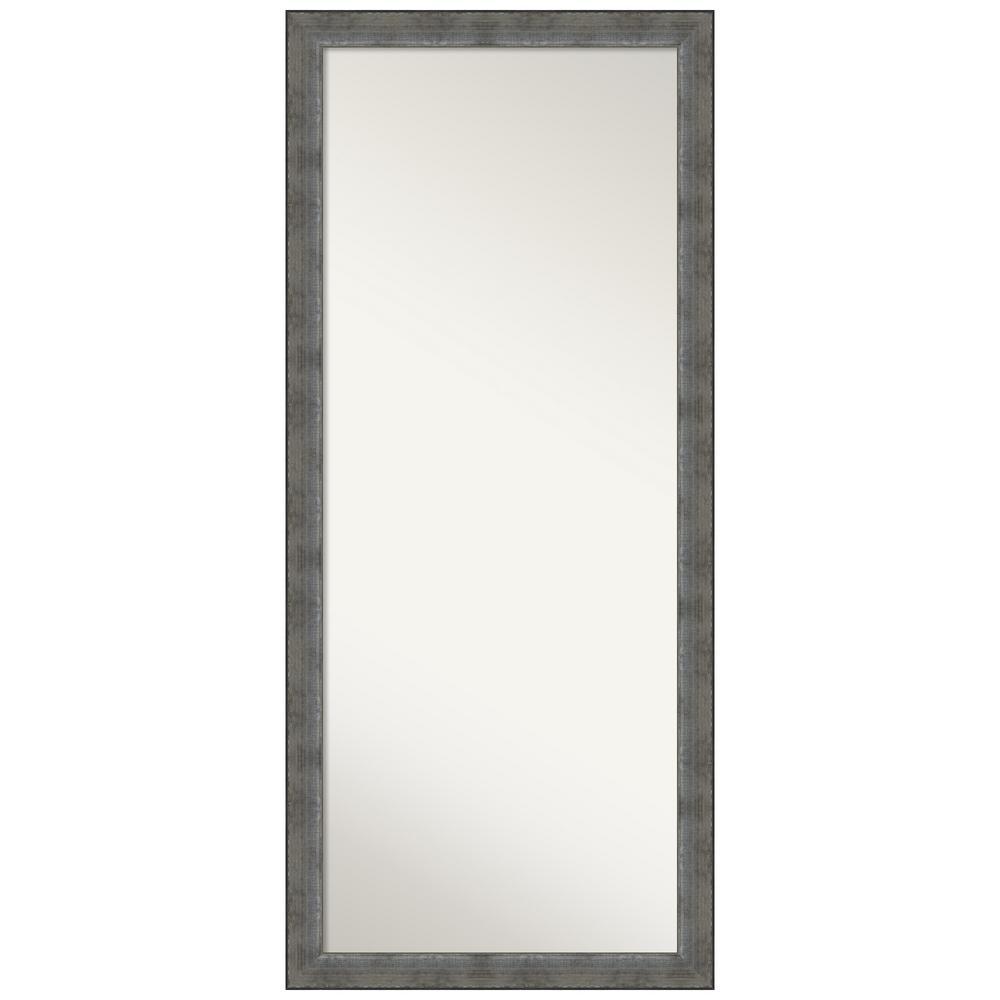 Forged Pewter Full Length Framed Floor / Leaner Mirror 28 in. x 64 in.