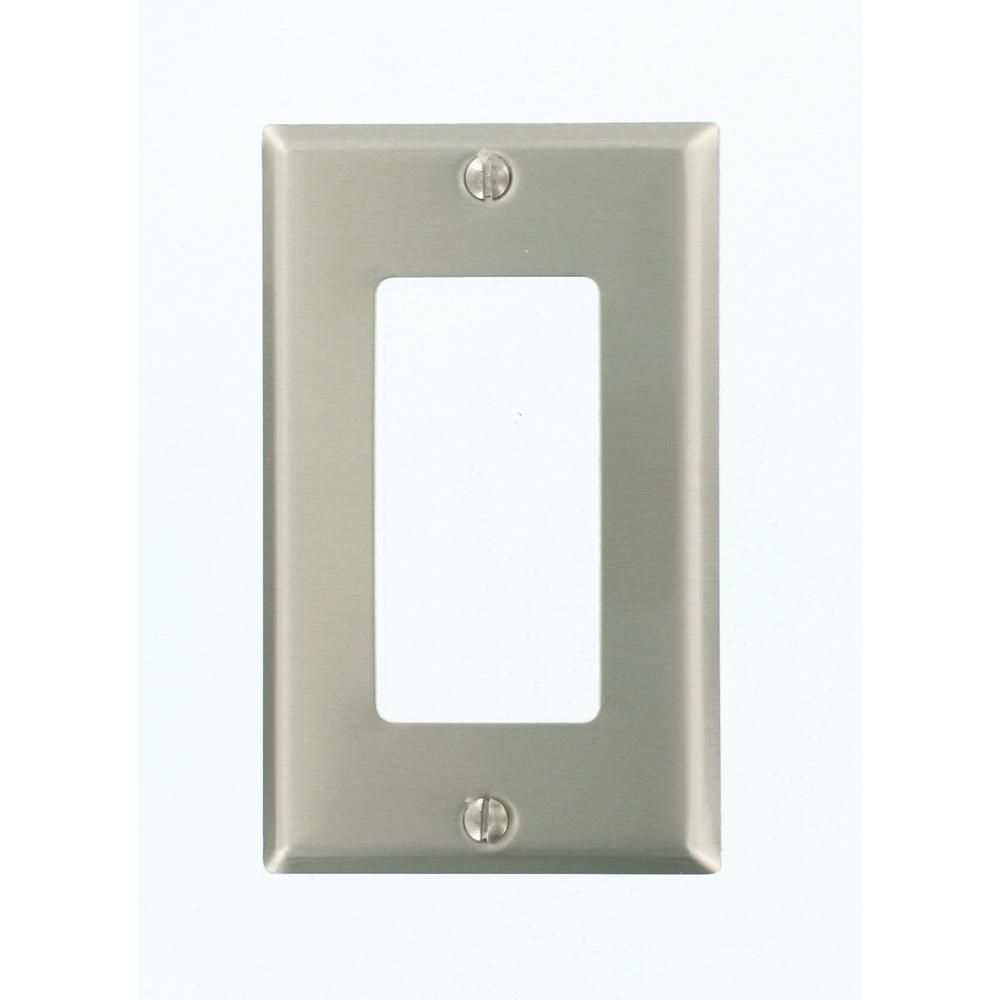 1-Gang Decora Wall Plate, Aluminum