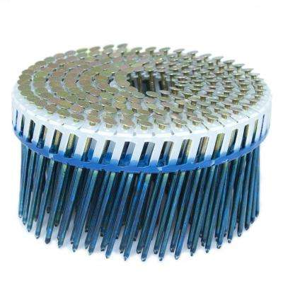 2.5 in. x 0.092 in. 15-Degree Smooth Galvanized Plastic Sheet Coil Siding Nail 3,200 per Box