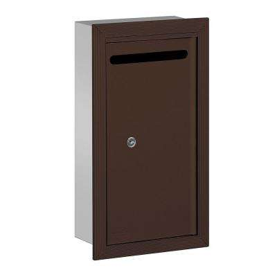 2260 Series Bronze Slim Recessed-Mounted Private Letter Box with Commercial Lock