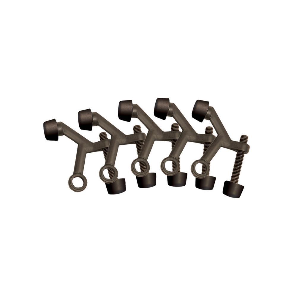 2-1/8 in. x 1-3/4 in. Oil Rubbed Bronze Standard Hinge Pin Door Stop Value Pack (5 per Pack)