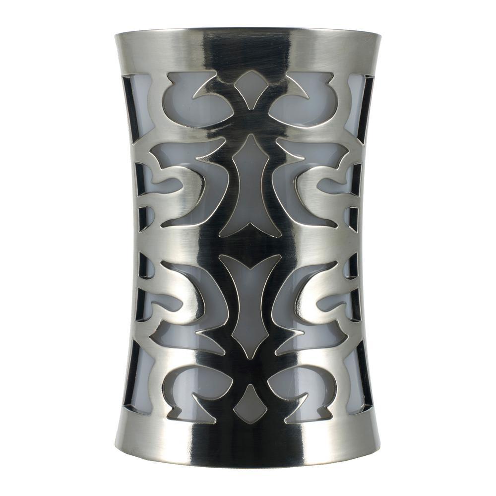 Brushed Nickel Light-Sensing LED Coverlite Night Light, Cornucopia Design