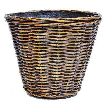 22 in. Dia Wicker Composite Woven Look Pot