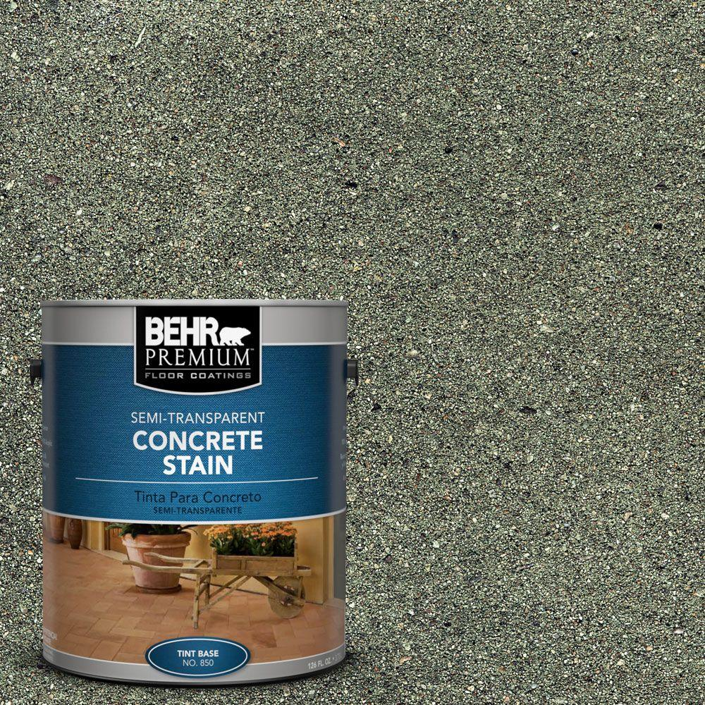 BEHR Premium 1 gal. #STC-25 Stone Moss Semi-Transparent Interior/Exterior Concrete Stain